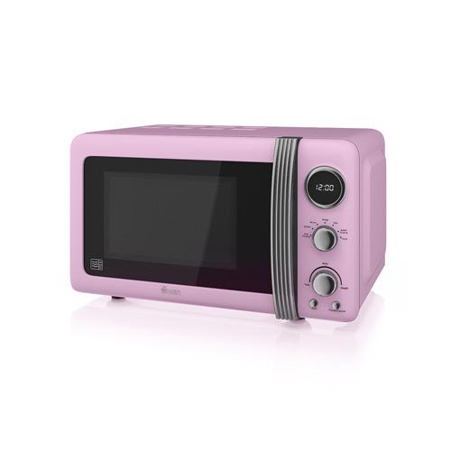Swan Retro Pink Digital Microwave