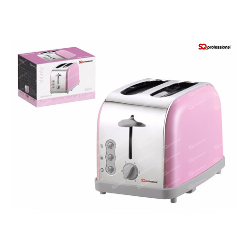 SQ Professional Legacy 900W 2 Slice Toaster, Pink