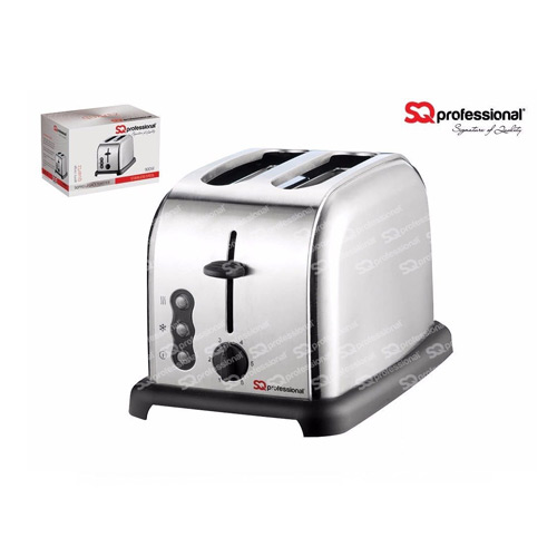 SQ Professional Legacy 900W 2 Slice Toaster, Silver