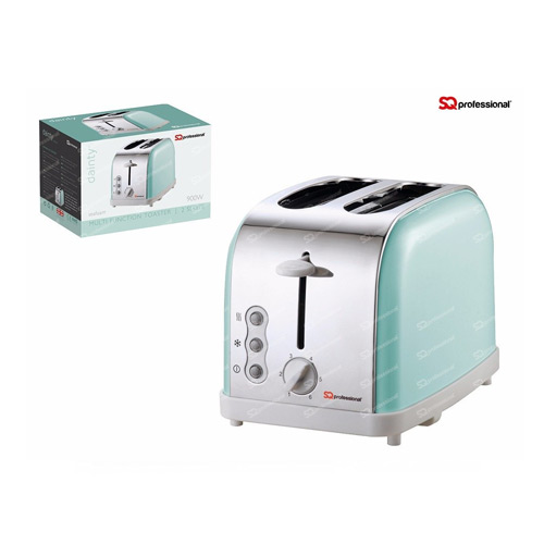SQ Professional Legacy 900W 2 Slice Toaster, Mint Green