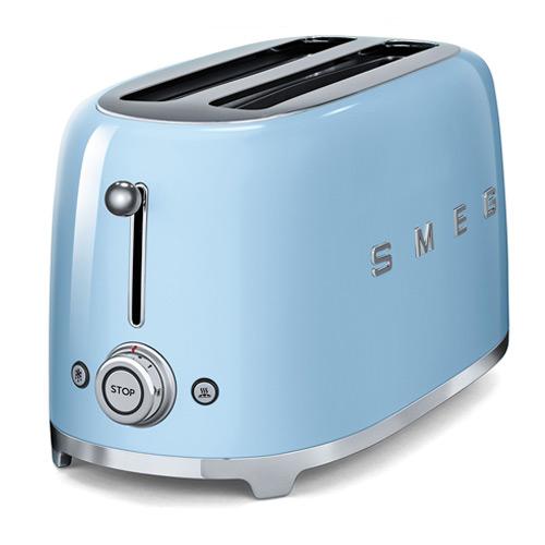 Smeg TSF02PBUK 50's Retro Style 4 Slice Toaster - Pastel Duck Egg Blue