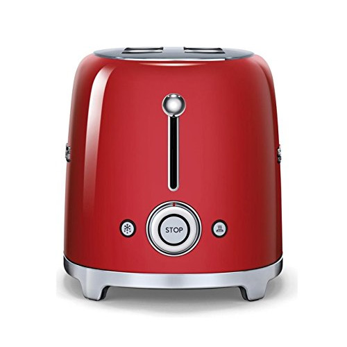 Smeg TSF02RDUK 50's Retro Style 4 Slice Toaster in Red