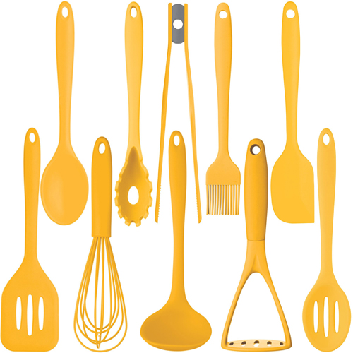 Kitchen Craft Colourworks Yellow Silicone Utensils