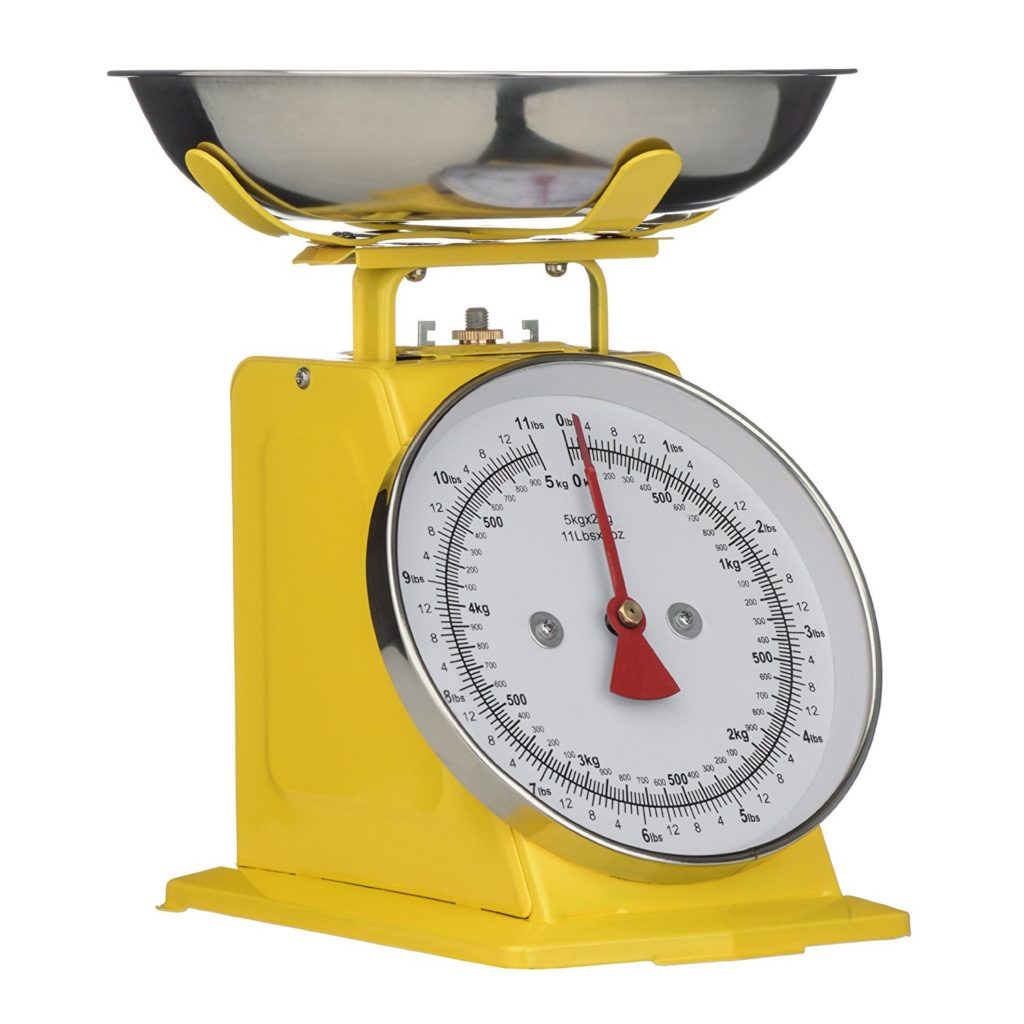 Premier Housewares Yellow Retro Kitchen Scale