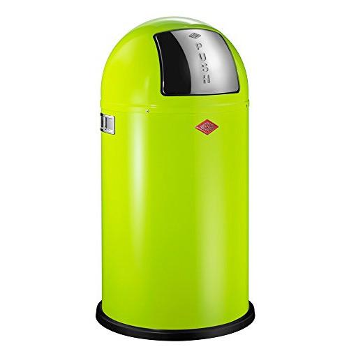 "Wesco ""Pushboy"" Lime Green Waste Bin - 50 Litre"