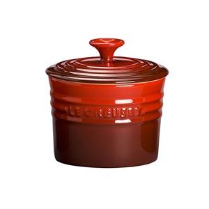 Le Creuset Stoneware Storage Jar 0.8 L Cerise Red
