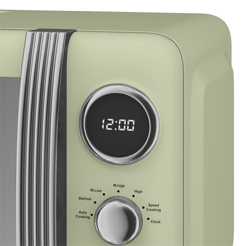 Swan Retro Mint Green Digital Microwave Oven 800 Watt
