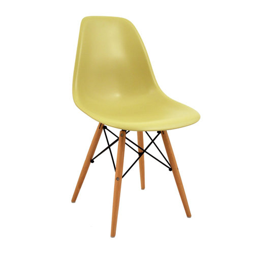 Bentley Home Retro Eames Style 'Eiffel' DSW Chair - Olive Green