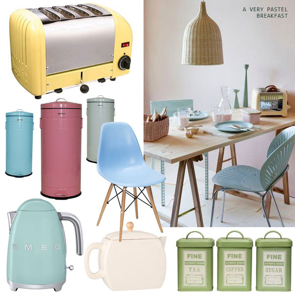 Duck Egg Blue Pastel Kitchen Accessories