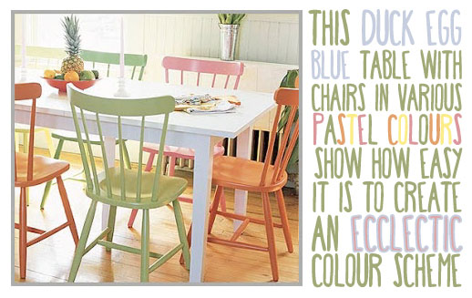 Duck Egg Blue Pastel Kitchen Colour Scheme