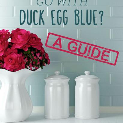 What colours go with duck egg blue? A kitchen colour scheme guide