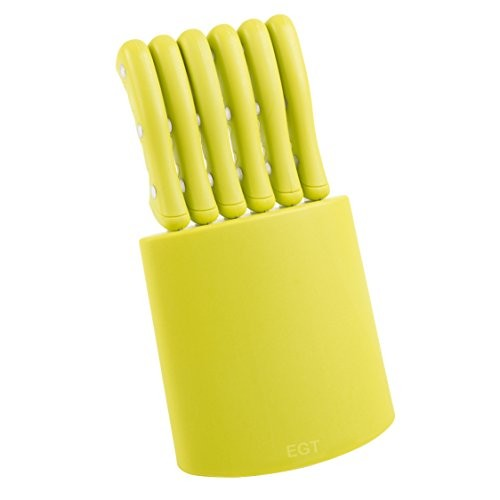 Panorama Gifts 7 piece Steak Knife Set Lime Green