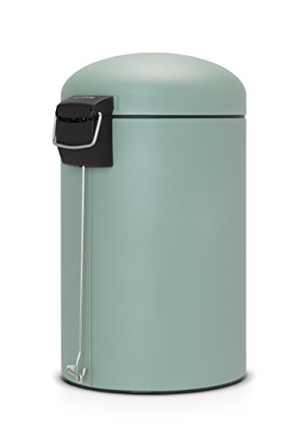 green kitchen bin brabantia 20 litre retro bin mineral mint green 1386
