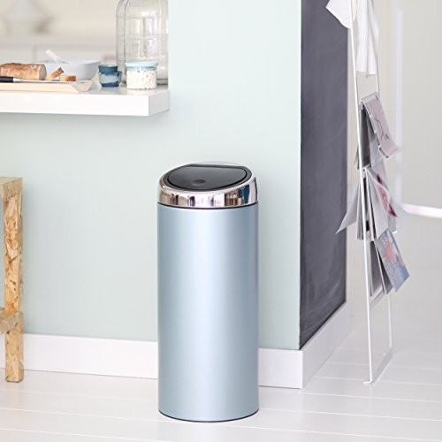 Brabantia 30 Litre Touch Bin Metallic Mint Green