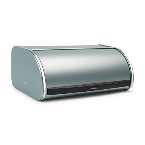Brabantia Roll Top Bread Bin Metallic Mint Green