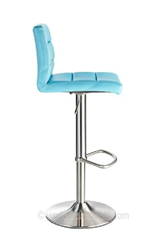 Costantino Deluxe Brushed Bar Stool Duck Egg Blue