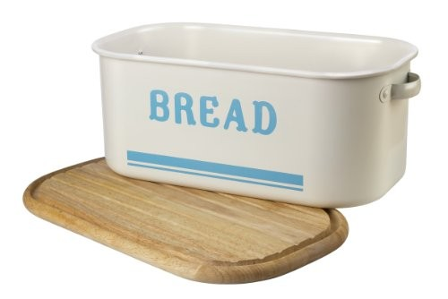 Jamie Oliver Bread Bin & Chopping Board Lid Duck Egg Blue