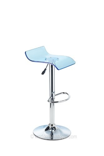 Costantino Laser Acrylic Bar Stool Blue