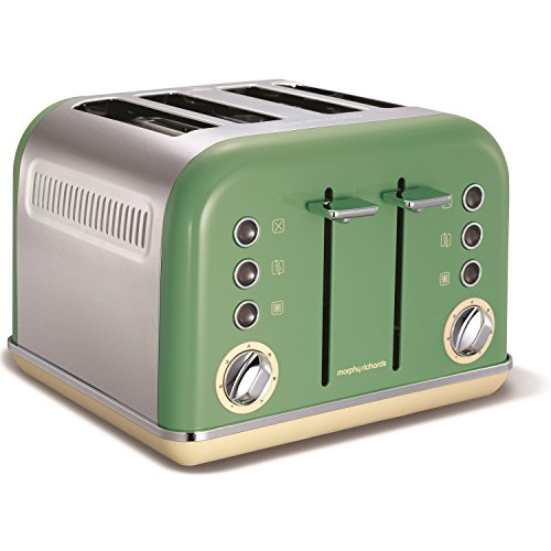 Morphy Richards New Accents 4 Slice Toaster Sage Green