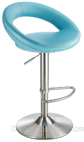Sorrento Brushed Kitchen Bar Stool Duck Egg Blue