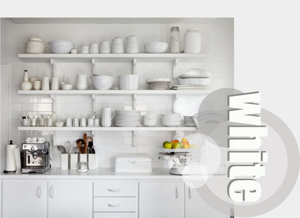 White Kitchen Accessories