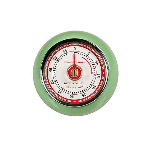 Fox Run Retro Mint Green 60 Min Kitchen Timer