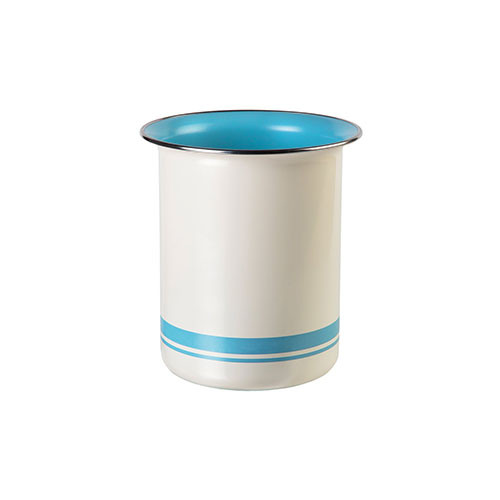 Jamie Oliver Utensil Holder Cream & Duck Egg Blue