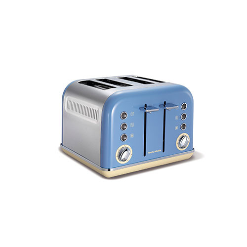 Morphy Richards New Accents 4 Slice Toaster Cornflower Blue