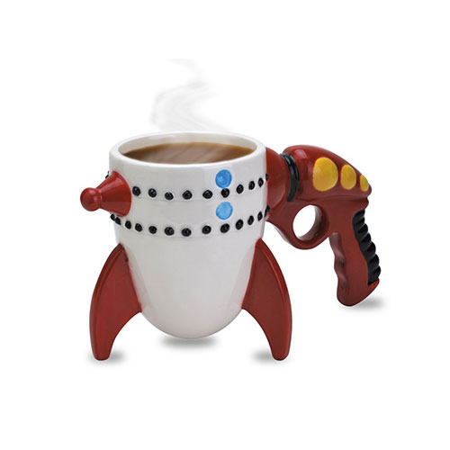 Big Mouth Toys Ceramic Retro Ray Gun Rocket Mug