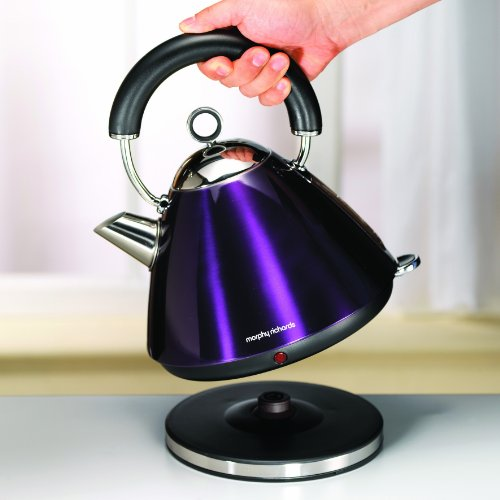 morphy richards red kitchen accessories morphy richards accents 43769 pyramid kettle plum purple 9291