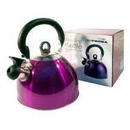 Prima Stainless Steel Purple Whistling Kettle 2.5 litres