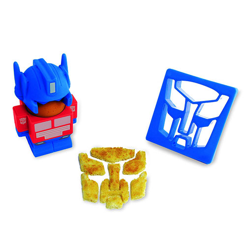 Transformers Optimus Prime Egg Cup and Toast Cutter
