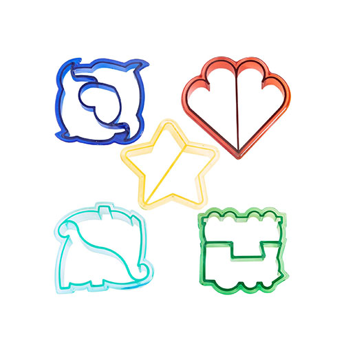 VonShef Fun Cake, Cookie & Sandwich Cutter Shapes for Kids - Set of 5