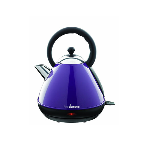 Fine Elements Pyramid Kettle, 1.7 Litre, 2200 W, Purple