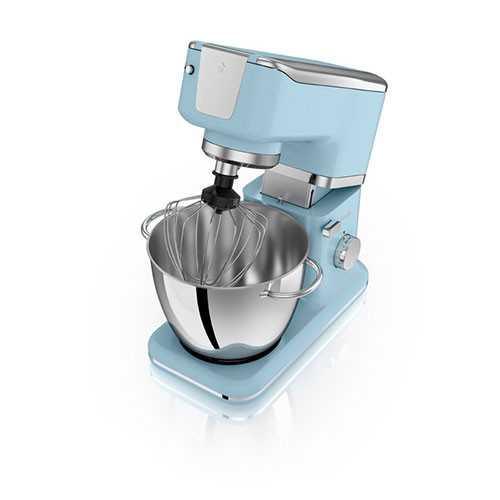 Swan Retro Stand Mixer - Duck Egg Blue (1000w) open