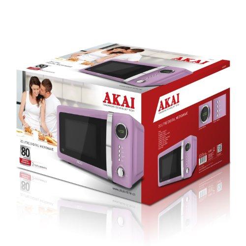 Akai A24005P Digital Microwave 700 Watt Baby Pink