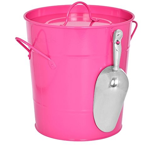 Hot Pink Kitchen Compost Waste Recycling Caddy Bin