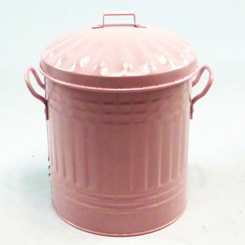 Anything4home Pink 15 Litre Steel Galvanised Bin