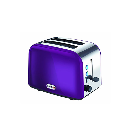 Breville VTT320 Stainless Steel 2 Slice Toaster Purple