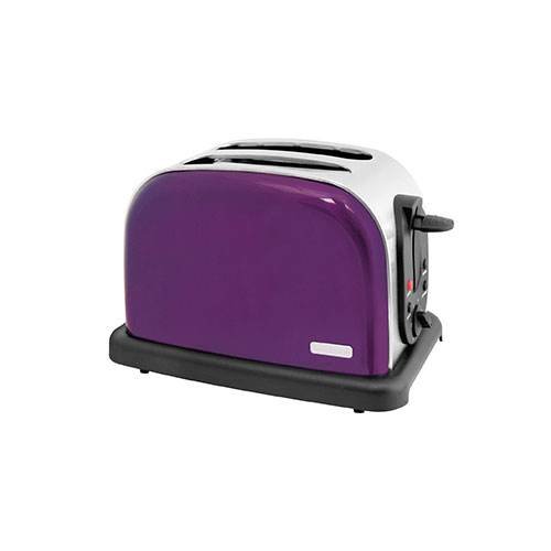 Lloytron 2-Slice Wide Slot Toaster 1000 Watt Plum Purple