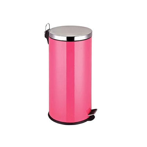Premier Housewares 30 Litre Stainless Steel Hot Pink Pedal Bin