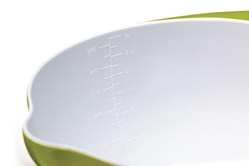Colourworks Lime Green Melamine Mixing Bowl 22 cm