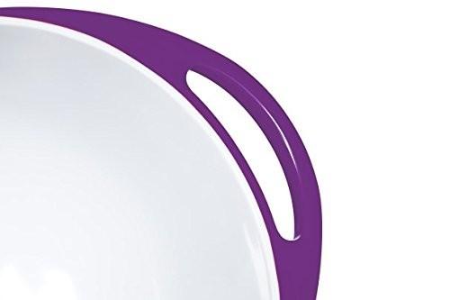 Colourworks Purple Melamine Mixing Bowl 24 cm