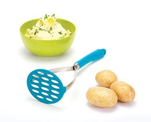 Kitchen Craft Colourworks Turquoise Blue Silicone Masher