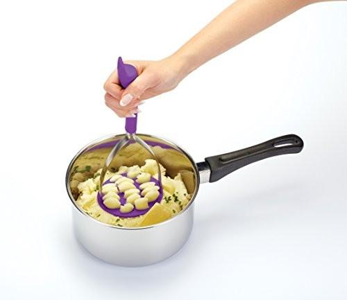 Kitchen Craft Colourworks Purple Silicone Masher