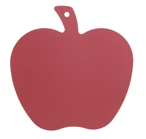 Excellent Housewares red Cutting Board Apple Shape