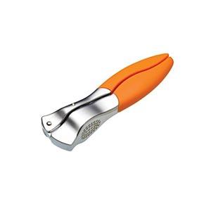 Kitchen Craft Colourworks Orange Garlic Press with Soft Touch Handles