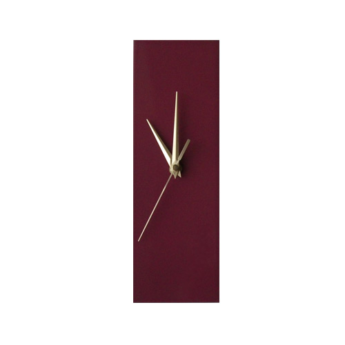 Contemporary Slim Mauve Purple Wall Clock
