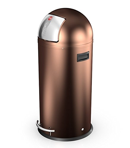 Hailo Kickmaxx 38 Litre Push Top Kitchen Bin - Copper