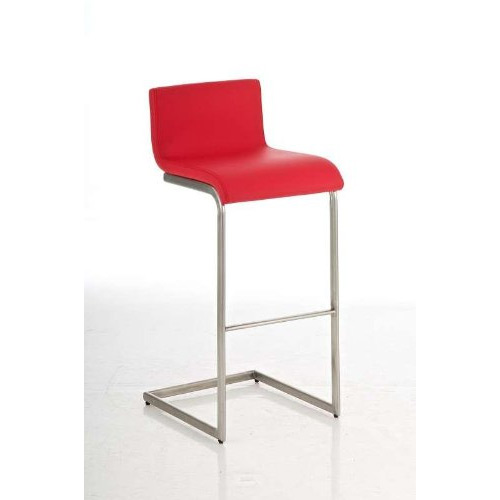 Newport style red breakfast bar stool